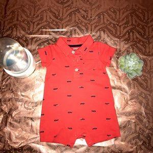 Carter's Baby Boy Coral Print Onesie